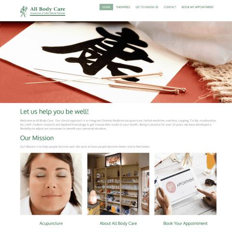 makbiz kelowna website design all body care
